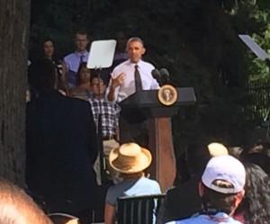 President Obama in Cheesman Park